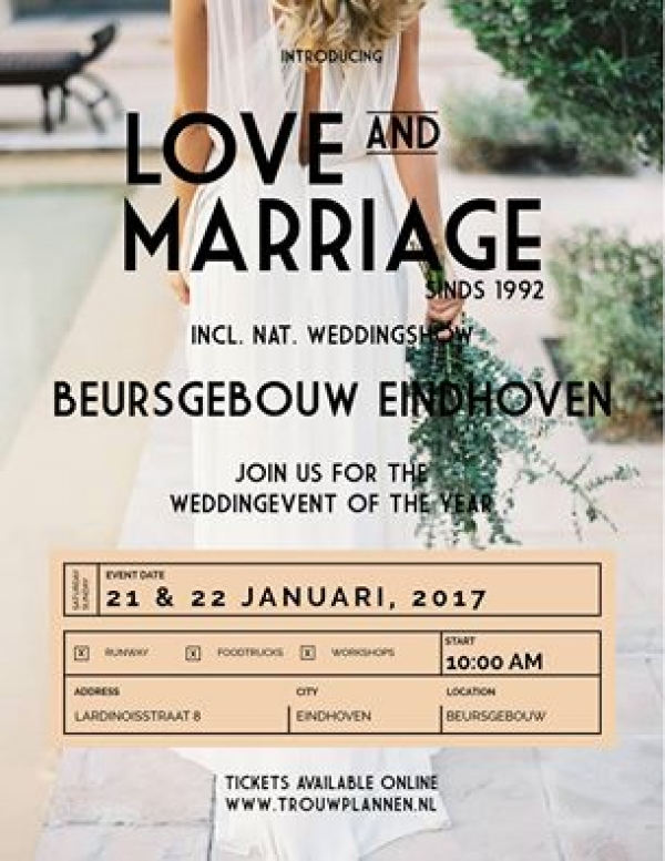 Love and Marriage beurs Eindhoven