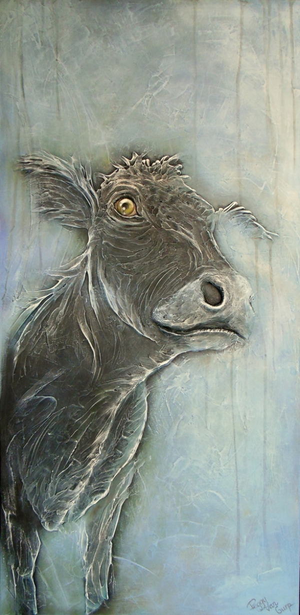 Cow in blauw